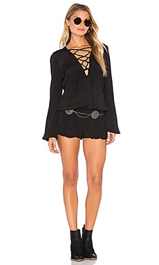 Iris Romper in Black