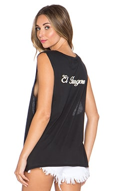 BEACH RIOT El Hungover Muscle Tank in Black