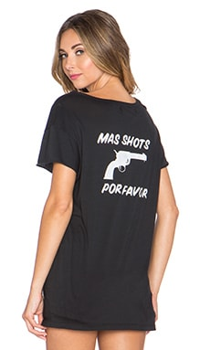 BEACH RIOT Mas Shots Ripped Tee in Black
