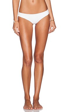 BEACH RIOT x STONE COLD FOX Gardenia Bikini Bottom in White Texture