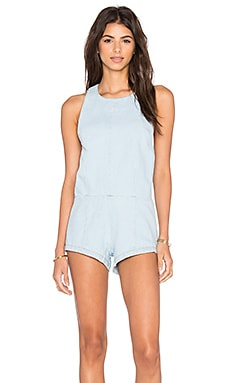 BEACH RIOT Dheliah Romper in Faded Indigo