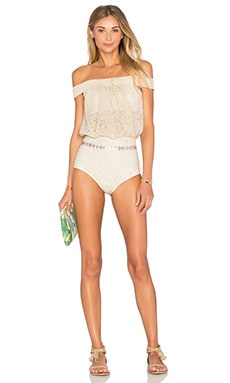 BEACH RIOT x REVOLVE X A BIKINI A DAY Charlotte One Piece in Gold Floral