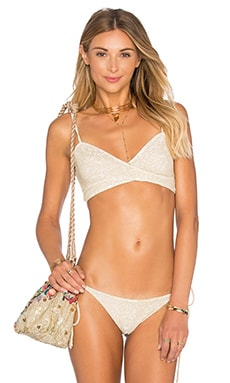 BEACH RIOT x REVOLVE x A Bikini A Day Belle Top in Gold Floral