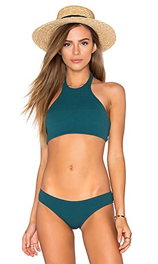 BEACH RIOT Meadow Halter Top in Forest Green