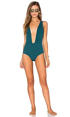 BEACH RIOT Willow One Piece in Forest Green