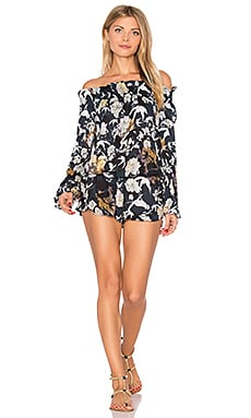 Lantern Romper in Midnight Floral