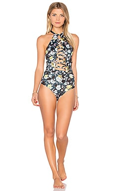 Starry One Piece in Midnight Floral