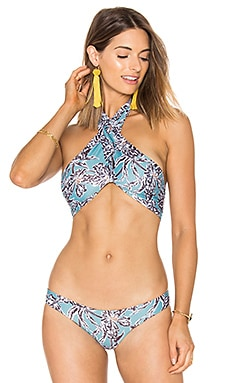 Saltwater Bikini Top in Seaside Floral