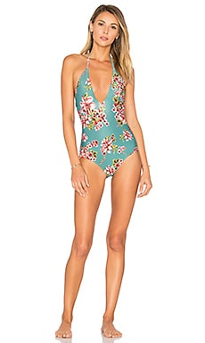 Bali One Piece in Teal Floral
