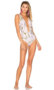 Aruba One Piece in White Floral