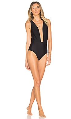 x REVOLVE Deep V One Piece in Black