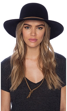 Tiller Wide Brim Hat in Black