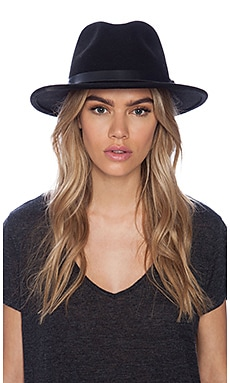Brixton Messer Fedora in Black/Black