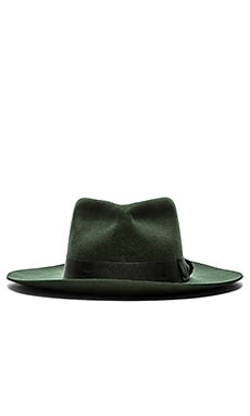 Brixton Lopez Fedora in Hunter Green