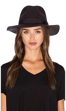 Indiana Fedora in Washed Black