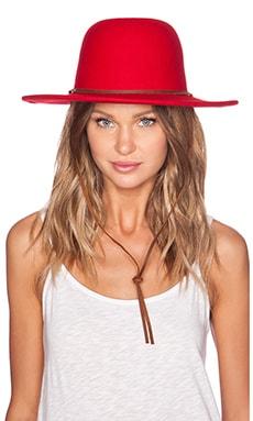 Brixton Tiller Top Hat in Red
