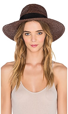 Willow Fedora en Marron & Noir