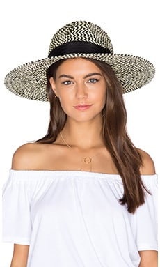 Joanna Hat in Black & Cream