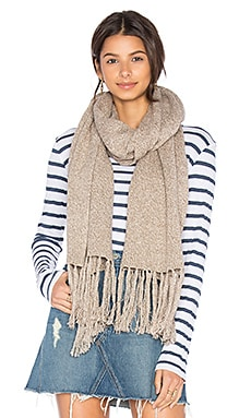 Elias Scarf in Cream & Taupe