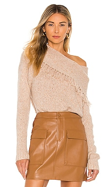 Lewes Fringe Off the Shoulder Sweater Brochu Walker $528