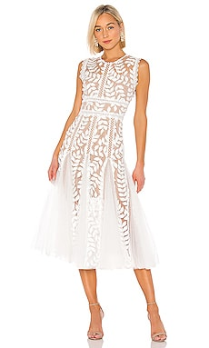 Saba Blanc Midi Dress Bronx and Banco $437
