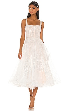 Mademoiselle Bridal Midi Dress Bronx and Banco $805 Wedding