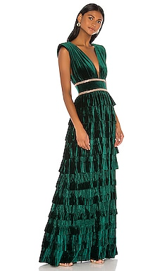 Velvet Flared Gown Bronx and Banco $690