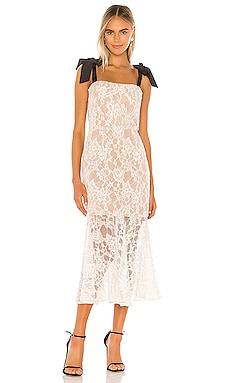 Willow Flared Midi Dress Bronx and Banco $400