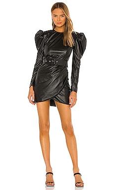 Donatella Vegan Leather Mini Dress Bronx and Banco $313