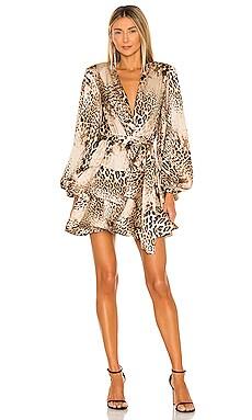 Cheetah Ruffle Mini Dress Bronx and Banco $590