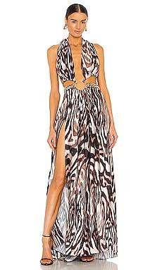Kalifa Maxi Dress With Chain Bronx and Banco $1,000