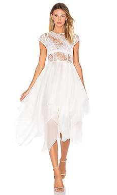 Bronx and Banco Ballerina Blanc Dress in White