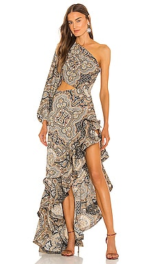 Paisley Gown Bronx and Banco $860 NEW