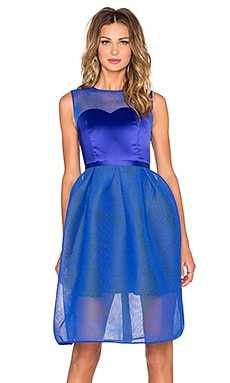 Bronx and Banco Babylon Corset Mini Dress in Electric Blue