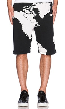 Black Scale Underworld Shorts in Black