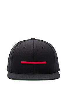 Black Scale Red Warfare Snapback in Black