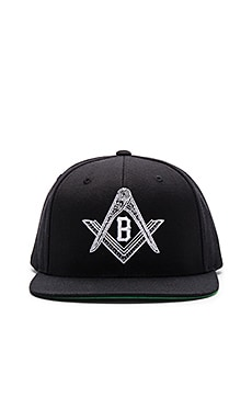 Black Scale Compass Snapback in Black