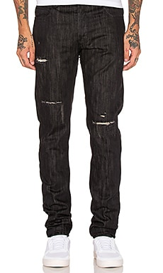Black Scale Destroyed Denim