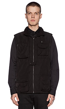 Black Scale Ross Vest in Black