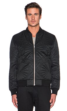 Black Scale Shapes Jacket in Black