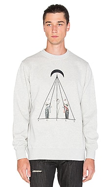 Black Scale Timeless II Crewneck in Heather Grey