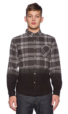 Black Scale Heckler Button Down in Black