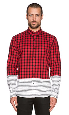 Black Scale Ochoa Button Down in Red