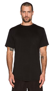 Black Scale Blvck Baseball Tee in Black