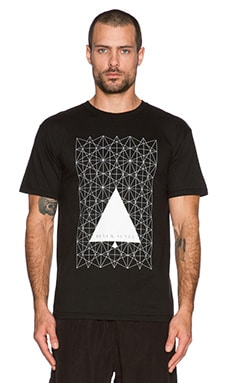 Black Scale Star Angle Tee in Black