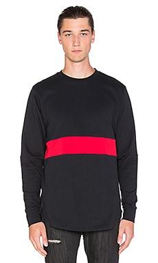Black Scale Mahady L/S T-Shirt in Black