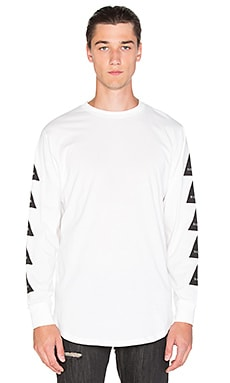 Black Scale Noir L/S T-Shirt in White