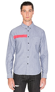 Black Scale Ulai Button Down in Black