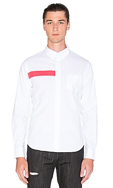 Black Scale Ulai Button Down in White