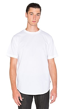 Black Scale Grant T-Shirt in White